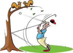 It can happen to any golfer